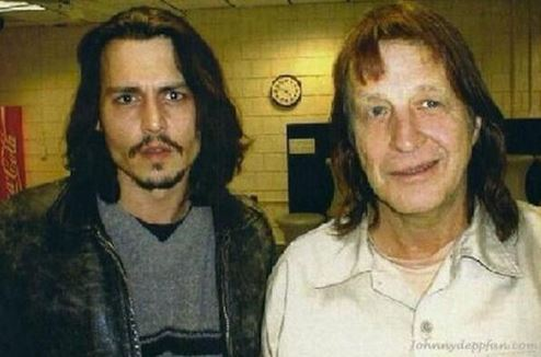 Johnny Depp and George Jung in a file photo. Jung was released from prison on June 2, 2014. (GeorgeJung.com)