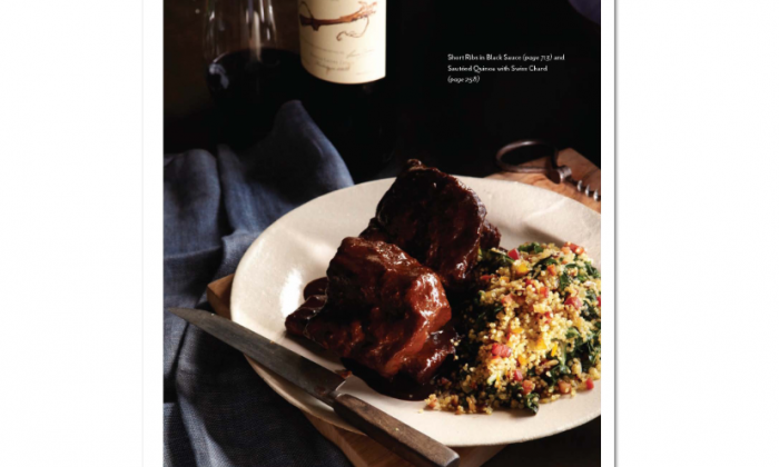 Short ribs in black sauce, with sautéed quinoa with Swiss chard. (Gentl & Hyers)