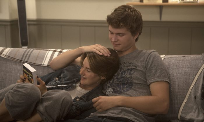 "Hazel (Shailene Woodley) and Gus (Ansel Elgort) in ""The Fault in Our Stars."" (James Bridges/Twentieth Century Fox Film)"