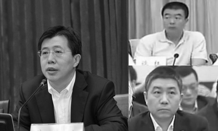 Ji Wenlin (L), Tan Hong (R-Top), and Yu Gang (R-Bottom) were stripped of their Party memberships on July 2, according to an announcement by anti-corruption authorities. All three men had close ties with former security boss Zhou Yongkang, believed to be in the crosshairs of Party leader Xi Jinping. (Screenshot/ifeng.com/gcpnews.com)