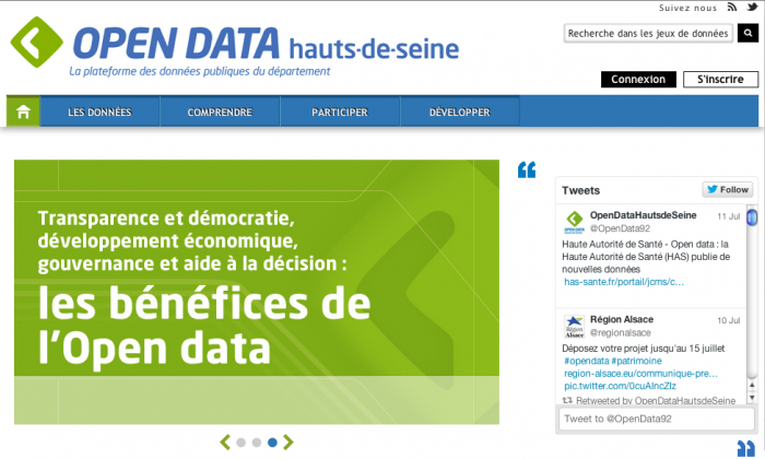 Screenshot from the website Opendata.hauts-de-seine.net (Opendata.hauts-de-seine.net)