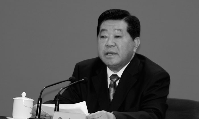 Jia Qinglin, former chairman and Party Secretary of the Chinese People's Political Consultative Conference, at a conference on Dec. 16, 2011 in Beijing, China. Rumors propagated by a well-known Internet personality recently said that Jia had been arrested as part of an ostensible corruption probe. (Mark Ralston/Pool/Getty Images)