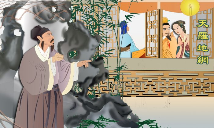Jia Yi had to end his relationship with Li Shishi, whom he loved, because Emperor Huizhong liked her as well. (Catherine Chang/Epoch Times)