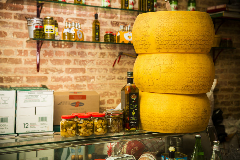 Cheese on the counter at Tavola. (Edward Dai/Epoch Times)