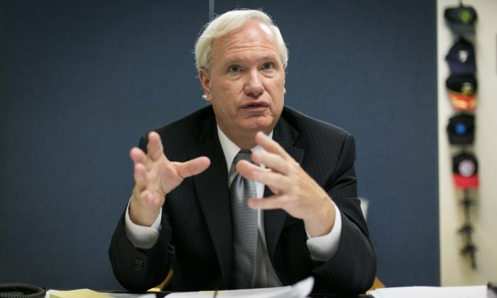 Tony Avella in his office in Queens, New York City, on June 24. (Benjamin Chasteen/Epoch Times)