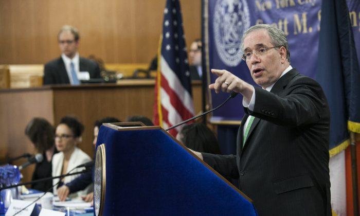 New York City Comptroller Scott Stringer. (Samira Bouaou/Epoch Times)