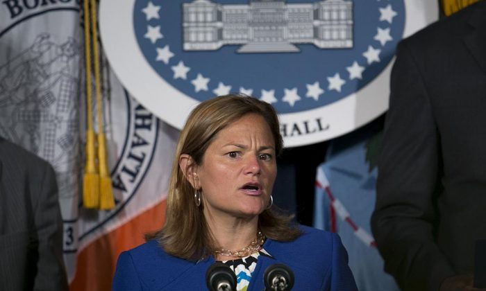 City Council Speaker Melissa Mark-Viverito at City Hall in New York City, July 24, 2014. (William Alatriste/Epoch Times)