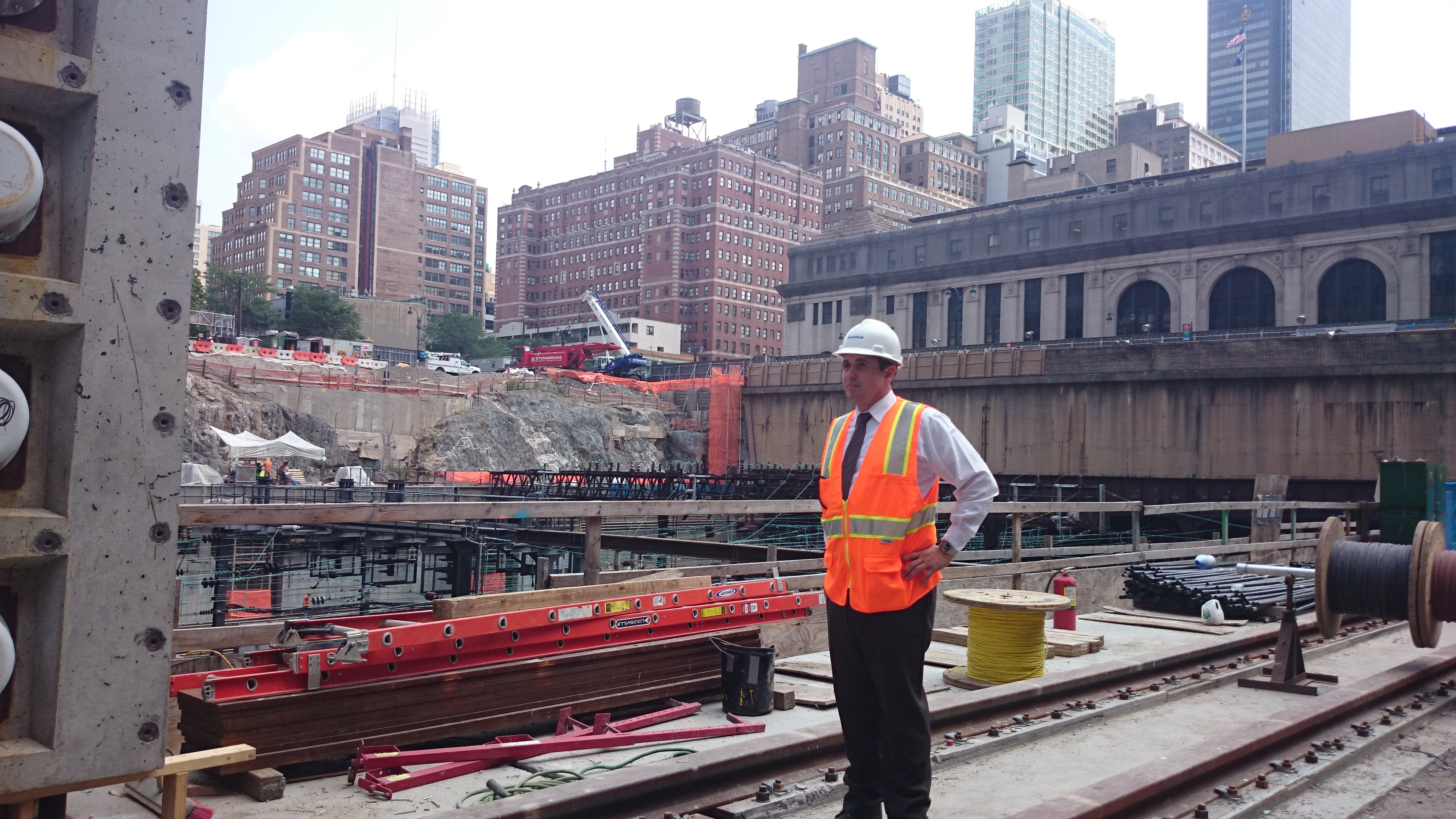 Henry Caso, vice president of Manhattan West construction (Epoch Times)