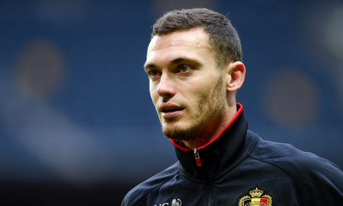 Belgium's defender Thomas Vermaelen attends a training session at Friends Arena in Solna, near Stockholm on May 31, 2014 on the eve of the friendly match Sweden vs Belgium. (JONATHAN NACKSTRAND/AFP/Getty Images)