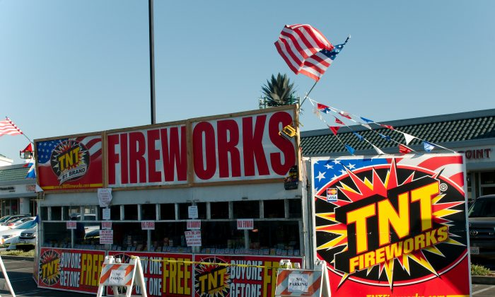 TNT Fireworks Store Front on Peck Road in El Monte, Calif. El Monte police confiscated over 51 tons of fireworks by July 2 this year.  (Robin Kemker/Epoch Times)