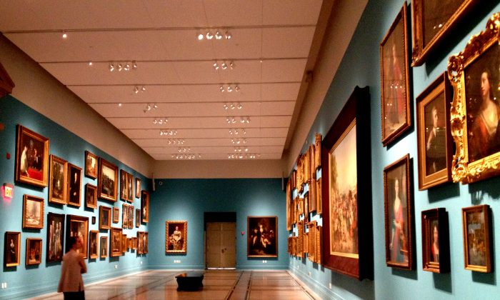 A selection from the New-York Historical Society permanent collection, hung Salon Style. (Christine Lin/Epoch Times)