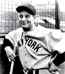 "Hall of Famer Lou Gehrig, the ""Iron Horse"" (Courtesy of the New York Yankees)"
