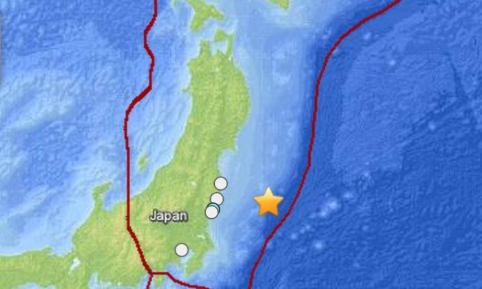 A large, 6.8-magnitude earthquake struck hundreds of kilometers off the coast of Japan's Fukushima Prefecture on Saturday morning, according to preliminary reports.