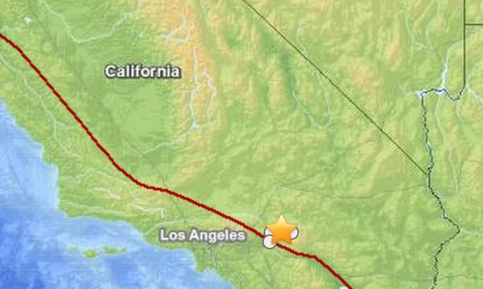 Earthquakes struck near Big Bear and Running in California on Saturday morning.