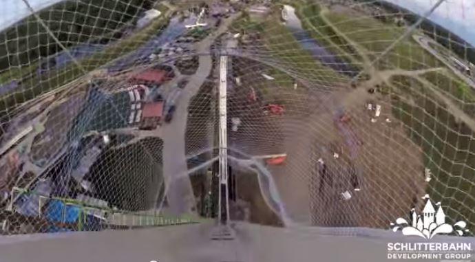 The Verruckt water slide. (YouTube/screenshot)