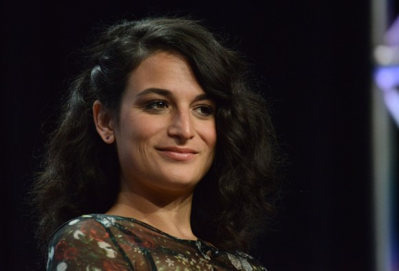"Jenny Slate appears on stage during the ""Married"" panel at the The FX 2014 Summer TCA held at the Beverly Hilton Hotel on Monday, July 21, 2014, in Beverly Hills, Calif. (Photo by Richard Shotwell/Invision/AP)"