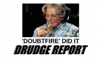 Drudge Report Highlights Story Claiming Mrs. Doubtfire 2 Sequel Pushed Robin Williams to Suicide