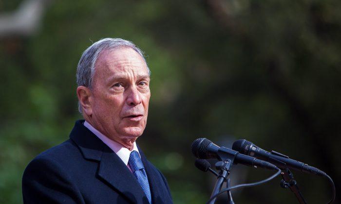 Michael Bloomberg, Nov. 11, 2013. (Petr Svab/Epoch Times)