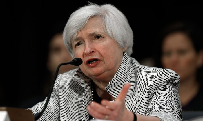 Federal Reserve Board Chairwoman Janet Yellen testifies before the Senate Banking, Housing and Urban Affairs Committee July 15, 2014 in Washington, DC. (Win McNamee/Getty Images)