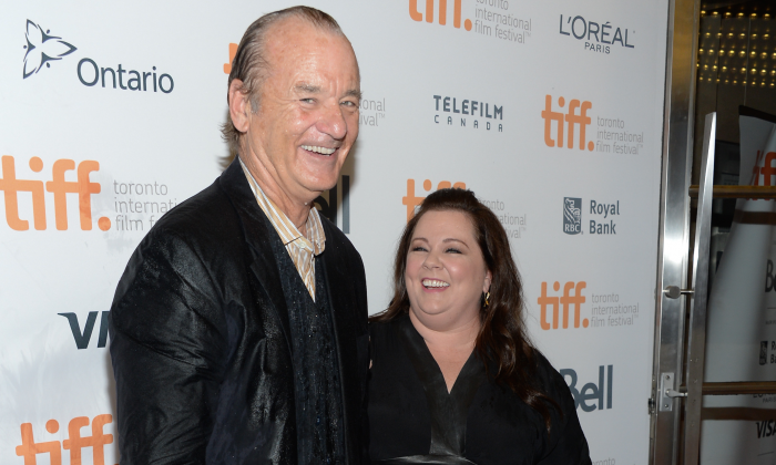 """Actors Bill Murray and Melissa McCarthy arrive at the """"St. Vincent"""" premiere during the Toronto International Film Festival on Sept. 5, 2014, in Toronto. (Evan Agostini/Invision/AP Photo)"""