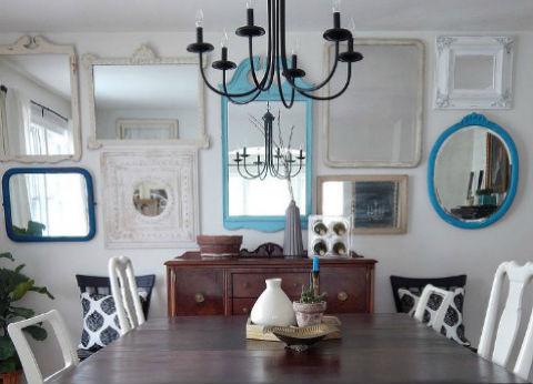 Vintage Mirror Gallery Wall via Hometalker Number Fifty-Three