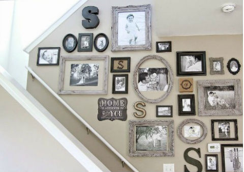Picture Gallery Wall via Hometalker Bless'er House