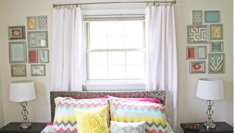 Fabric Gallery Wall via Hometalker Megan Rapp