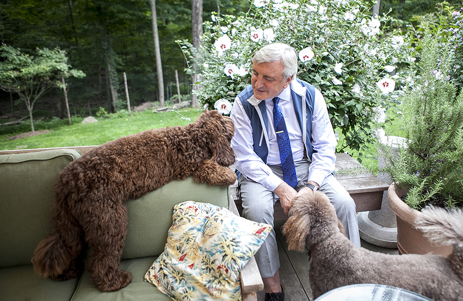 Co-owner of the Four Seasons restaurant Julian Niccolini in his home. (Deborah Yun/Epoch Times)