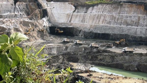 CV Arjuna coal mine in Makroman. Photo: S. Yutinus Hardjanto.