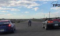 Video: 2015 Chevy Corvette vs BMW Alpina B6 XDrive Grand Coupe Drag Race