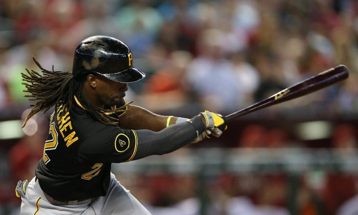 Andrew McCutchen of the Pittsburgh Pirates made his case for another MVP this season hitting .314 including 25 home runs. (Christian Petersen/Getty Images)