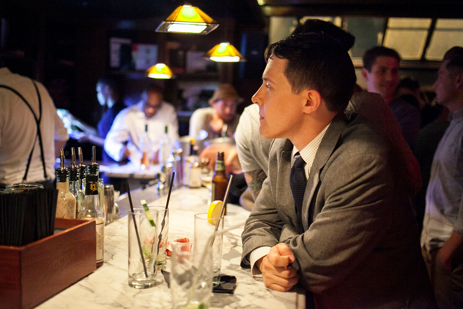 The Handy Liquor Bar, dowstairs, is also owned by Levine. (Samira Bouaou/Epoch Times)
