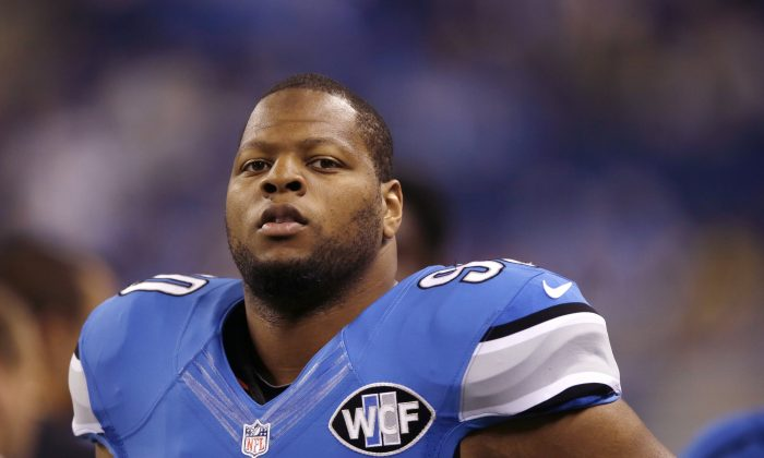 Detroit defensive tackle Ndamukong Suh will be the most coveted free agent, should the Lions be unable to sign before March 10. (AP Photo/Carlos Osorio, File)