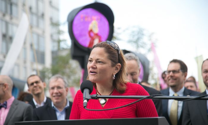 Speaker of the New York City Council Melissa Mark-Viverito attends High Line At The Rail Yards Dedication And Opening Ceremony at Highline in New York City on Sept. 20, 2014. She announced a bill Thursday that she will introduce on Oct. 7, under which New York will no longer honor Immigration and Customs Enforcement requests for detainment of illegal immigrants without a warrant from a federal judge. (Jason Carter Rinaldi/Getty Images)