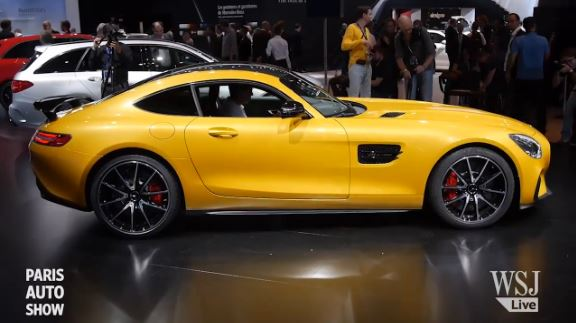 The 2016 Mercedes AMG GT Sports Car, As Unveiled At The Paris Auto Show In