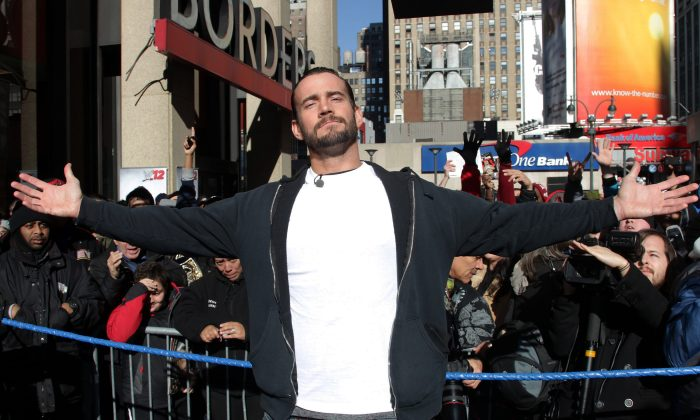 CM Punk in a 2011 file photo. (Getty Images)