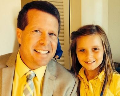 Johannah Duggar with her father Jim Bob in an undated picture. (Duggar Family Blog)