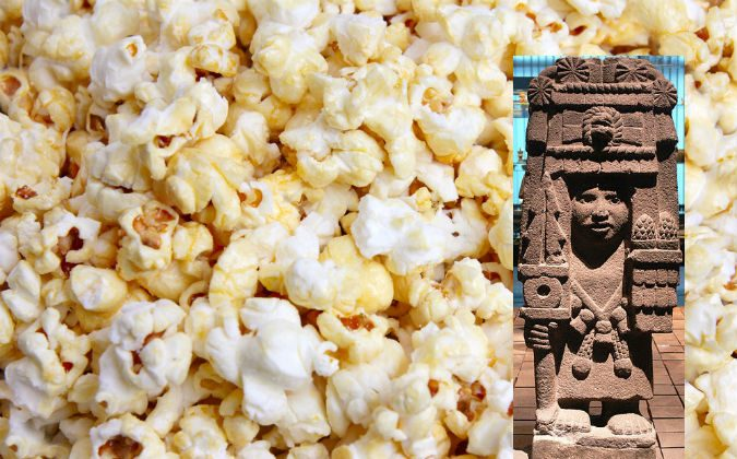Aztec goddess of corn and  popcorn. The approximately 80,000 year old snack. Learn how to make your own traditionally with Celtic sea salt or clarified butter based caramel.