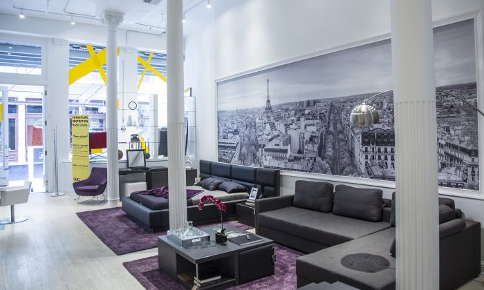Lazzoni's Soho showroom. (Courtesy of Lazzoni)