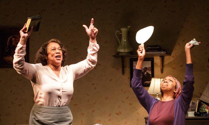 "(L–R)  S. Epatha Merkerson and Sharon Washington in ""While I Yet Live."" (James Leynse)"