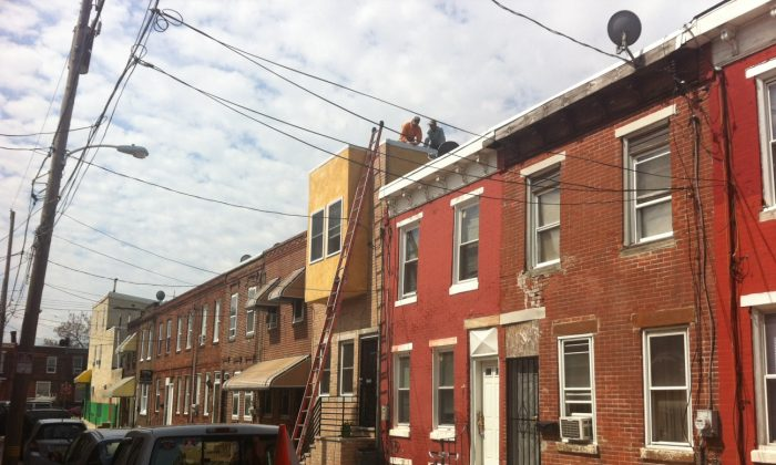 Homes under renovation in Philadelphia. (Courtesy of MCG)