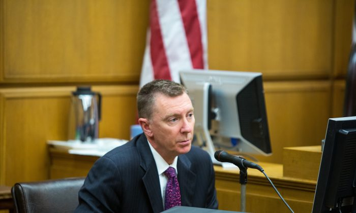 Dr. John E. Deasy, the superintendent of the Los Angeles Unified School District testifies on Jan. 27 in the Superior Court of Los Angeles County. Deasy announced his resignation on October 16, 2014. (Monica Almeida/AP Photo)