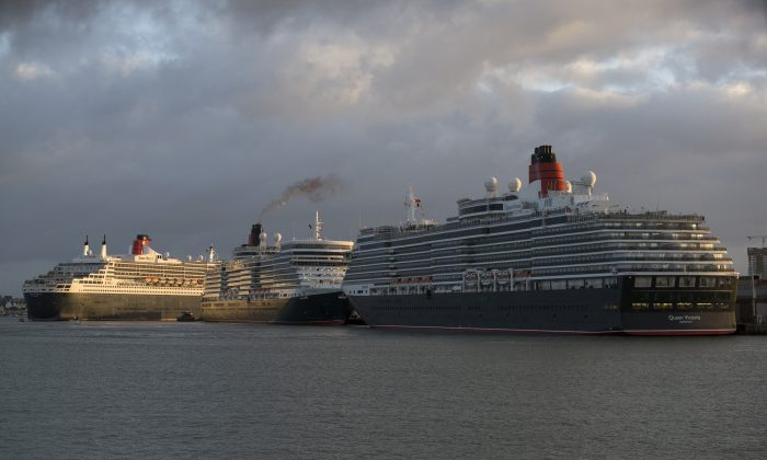 Three cruise ships dock in Southampton, England. China may soon enter the cruise ship market by developing its first luxury liner with help from Carnival Corp. (Oli Scarff/Getty Images)