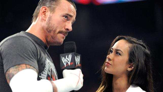 CM Punk and AJ Lee in a file photo. (WWE)