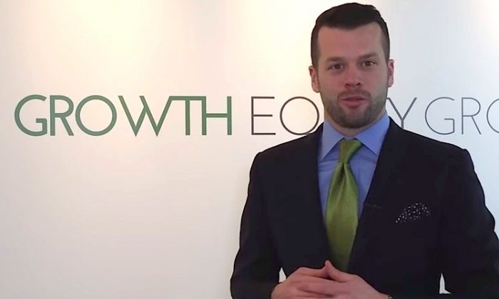 Brett Immel, senior partner at Growth Equity Group, at the World MoneyShow in Toronto on Oct. 17, 2014. (Epoch Times)