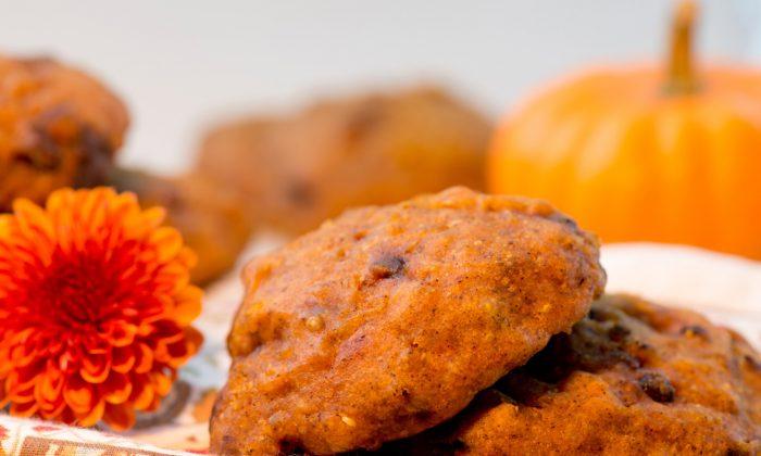 Pumpkin Chocolate Chip Quinoa Cookies (Cat Rooney)