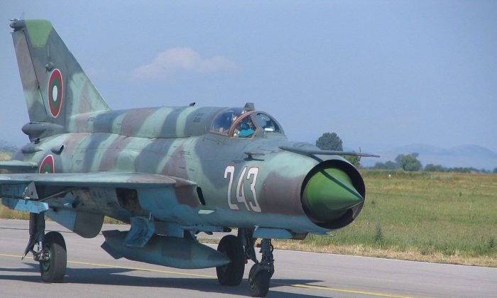 Bulgarian MiG-21, training with Americans, but maintained by the Russians. (Wikimedia Commons)