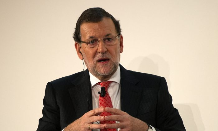 Spanish Prime Minister Mariano Rajoy speaks during a conference hosted by the Financial Times newspaper titled 'Restoring Competitiveness' at the Ritz hotel on Oct. 14, 2014, in Madrid, Spain. (Denis Doyle/Getty Images)