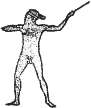 An illustration showing the outline of Marree Man by Lisa Thurston, 2005. (Wikimedia Commons)