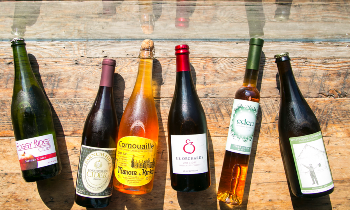 Assorted ciders at The Queens Kickshaw, in Astoria, Queens. (Samira Bouaou/Epoch Times)